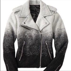 GAP wool blend ombré moto jacket